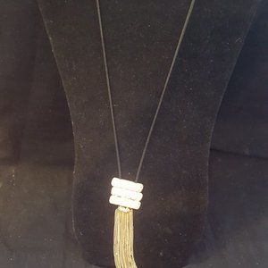 Paparazzi Gold and Black Necklace Set